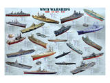 World War II War Ships Prints