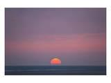 Sunset at the sea, Amrum, Schleswig-Holstein, Germany Print
