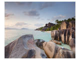Anse Source d'Argent beach, La Digue Island, Seychelles Posters
