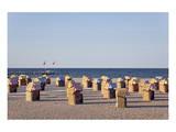 Beach of the Baltic Seaside Resort of Travemuende near Luebeck, Schleswig-Holstein, Germany Posters