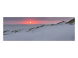 Sunset at the sea, Amrum, Schleswig-Holstein, Germany Poster