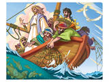 Jesus the Fisherman Print
