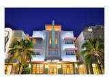 Mc Alpin Hotel on Ocean Drive in the Art Deco District of South Miami Beach in Miami, Florida, USA Print