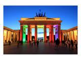 Festival of Lights, Brandenburg Gate at Pariser Platz, Berlin, Germany Posters