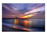 Pier on the Beach of Naples on the Gulf Coast, Florida, USA Poster