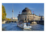 Bode Museum on Museum Island on River Spree, Berlin, Germany Prints