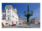 Archbishop's Palace with first Courtyard on Hradcany in Prague, Central Bohemia, Czech Republic Posters
