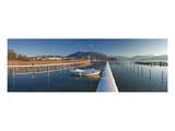 Lido in Kaltenbrunn in Winter, Lake Tegernsee, Upper Bavaria, Bavaria, Germany Posters