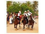 Fantasia, equestrian games in Midoun, Jerba Island, Medenine, Tunisia Poster