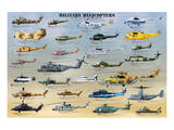 Military Helicopters Posters
