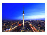 Television Tower on Alexanderplatz Square at Dusk, Berlin, Germany Poster