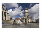 French Cathedral and statue of Friedrich Schiller on Gendarmenmarkt, Berlin, Germany Posters