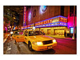 Radio City Music Hall by Night, New York City, New York, USA Prints