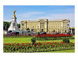Buckingham Palace with Memorial for Queen Victoria, London, South of England Poster