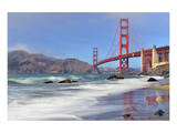 San Francisco Bay and Golden Gate Bridge, San Francisco, California, USA Posters