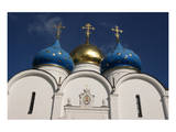 Cupolas of Assumption Cathedral at Trinity Lavra of St. Sergius, Sergiyev Posad, Moskow, Russia Prints