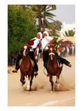Fantasia, equestrian games in Midoun, Jerba Island, Medenine, Tunisia Prints