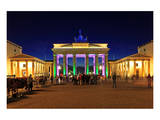 Festival of Lights, Brandenburg Gate at Pariser Platz, Berlin, Germany Prints