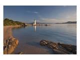 Lighthouse at Punta Faro in Palau, Province of Olbia-Tempio, Sardinia, Italy Art