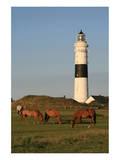 Lighthouse in Kampen, Sylt, Schleswig Holstein, Germany Print