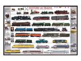 History of Trains Print