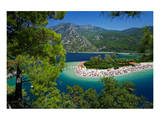 View of the Lagoon of Oludeniz near Fethiye, Mugla Province, Lycia, Turkey Prints