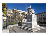 Statue of Wilhelm von Humboldt in front of Humboldt University, Unter den Linden, Berlin, Germany Prints