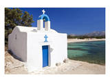 Agios Ioannis Chapel on the Beach of Aliko, Island of Naxos, Cyclades, Greece Prints