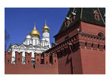 Kremlin Wall and Grand Kremlin Palace, Moscow, Russia Prints