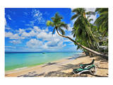 Beach at The Sandpiper Hotel, Holetown, St. James, Barbados, Caribbean Poster