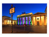 Festival of Lights, Brandenburg Gate at Pariser Platz, Berlin, Germany Print