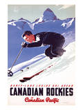 Banff-Lake Louise Ski Areas, Canadian Rockies Posters