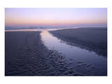 Morning light on the beach, Langeoog, East Frisian Islands, Lower Saxony, Germany Print