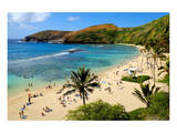 View of Hanauma Bay, Island of Oahu, Hawaii, USA Posters