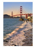 San Francisco Bay and Golden Gate Bridge, San Francisco, California, USA Art