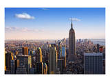 View towards the Empire State Building, Manhattan, New York City, New York, USA Posters