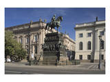 Equestrian statue of Frederick the Great on Unter den Linden in Berlin, Germany Prints