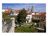 Baroque Garden of Vrtba Palace at Prague Lesser Town, Central Bohemia, Czech Republic Prints