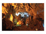 In the Cave of Awe Hang Sung Sot Grotto in Ha Long Bay, North Vietnam, Quang Ninh, Vietnam Posters