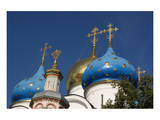 Cupolas of Assumption Cathedral at Trinity Lavra of St. Sergius, Sergiyev Posad, Moskow, Russia Posters