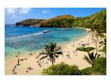 View of Hanauma Bay, Island of Oahu, Hawaii, USA Prints