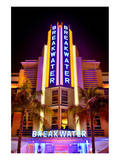 Breakwater Hotel on Ocean Drive in the Art Deco District of South Miami Beach Prints