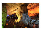 In the Cave of Awe Hang Sung Sot Grotto in Ha Long Bay, North Vietnam, Quang Ninh, Vietnam Prints