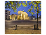 Brandenburger Tor in the evening, Berlin, Germany Prints