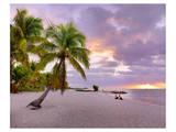 Sunrise on Smathers Beach in Key West, Florida Keys, Florida, USA Print