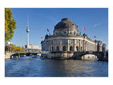 Bode Museum on Museum Island on the River Spree, Berlin, Germany Stampe