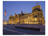 Reichstag in the evening, Berlin, Germany Print