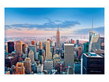 View towards the Empire State Building, Manhattan, New York City, New York, USA Prints