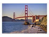 San Francisco Bay and Golden Gate Bridge, San Francisco, California, USA Print