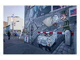 Remains of the Berlin Wall at the East Side Gallery in Berlin, Germany Prints